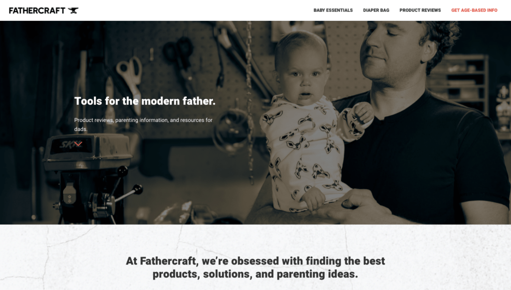 Fathercraft.com screenshot